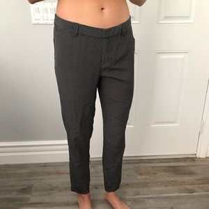 Joie Silk Black and White Cropped Pants (Size 4)